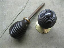 COPPIA di Originali Rigenerati EBONY REEDED MANOPOLE con ottone rose 0158