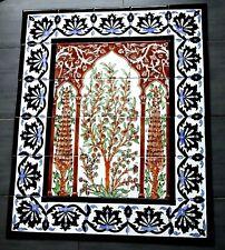 Olivenbaum Fliesenbild handbemalte Fliesen Bordüren 90x75 Wandfliesen Mosaik