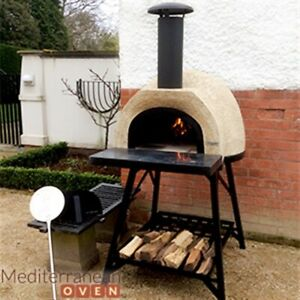 Wood Fired Pizza Oven, With Stand And Accessories