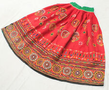 Ethnic Banjara Belly Dance Embroidery India Gypsy Tribal Boho Kuchi Rabari Skirt