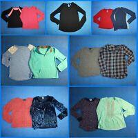 13 Piece Lot Nice Clean Girls Size 14 Fall School Winter Everyday Tops 2w110