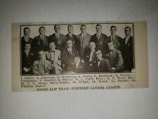 Moose Jaw Robin Hoods 1913 Team Picture Baseball