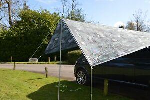 VW Camper Van Sun Canopy Awning Van Conversions Motorhomes 2.4m x 3m Camo Grey