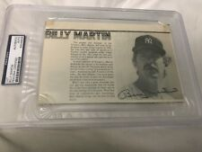1977 BILLY MARTIN SIGNED YANKEES  Program Page PSA/DNA Crisp Auto!
