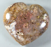 Natural Snowflake Cherry Blossom agate Crystal Gem Stone Heart Healing 305g