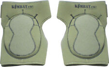 KNEE PADS IN NEOPRENE -  MILITARY AIRSOFT IN OLIVE GREEN -BY KOMBAT UK