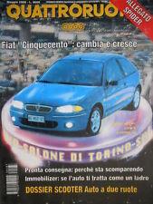 Quattroruote 487 1996 Poster Lancia K Coupé. Fiat 500 cambia e cresce [Q.56]