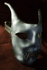 The Dark Jester leather art Halloween Mardi Gras costume mask -airbrushed design