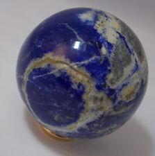 Ural Russian Blue Lapis Lazuli Orb Sphere Psycic Energy Healing Stone 317gr 60mm