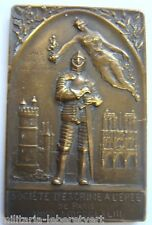 Médaille ESCRIME 1910 PARIS CHALLENGE AMBIDEXTRE EPEE Froment Meurice ORIGINAL