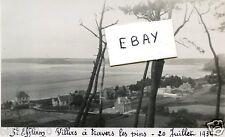 22 BRETAGNE..COTE D'ARMOR .PHOTO ORIG. DE 1934 ..St-EFFLAM A TRAVERS LES PINS..