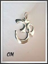 OM MANTRA INDÚ Silver Sanscrit Om 925 Sterling Pendant~Buddhist~Reiki~Yoga~New