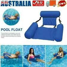 Adults Foldable Backrest Inflatable Floating Bed Pools Water Bed Lounge Chair