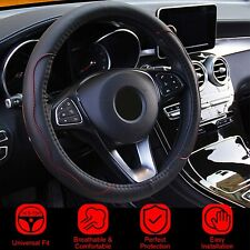 Universal Car Steering Wheel Cover Fiber Leather Car Accessories For 15