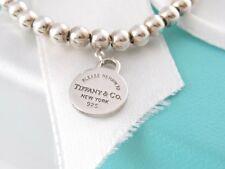 Auth Tiffany & Co Silver Circle Return To Tiffany Bracelet