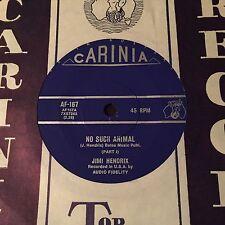 "JIMI HENDRIX - - NO SUCH ANIMAL - - Rare 1970 Australian CARINIA 7"""