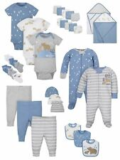 Wonder Nation Baby Boy Newborn Clothes Essentials Gift Set, 32-Piece