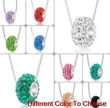 Rhinestone Silver Plated Charm Costume Necklaces & Pendants