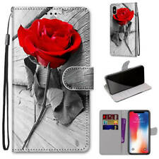 For LG STYLO 5 Aristo 5 Painted Magnetic Leather Flip Wallet Stand Case Cover
