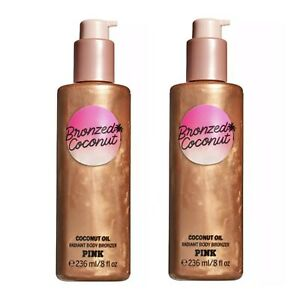 Victoria's Secret PINK Bronzed Coconut Radiant Body Bronzer ~ 8 fl.oz.(Lot of 2)