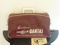 Vintage QANTAS AIRWAYS V Jet 1960'S Passenger Bag/Holdall