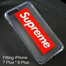 Supreme Transparent Silicone Rubber Case Cover for iPhone 7 Plus / 8 P