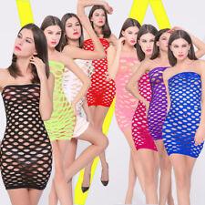 SEXY Dessous Kleid Netz Nightdress Overdress trägerlos Party HOT Disco one size
