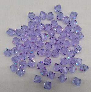 24pc Swarovski Crystal Alexandrite 4mm Bicone 5328 Beads; COLOR CHANGING; RARE