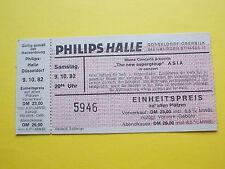 ^°^ Alte Eintrittskarte ASIA von 1982 Düsseldorf Ticket