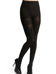 Spanx Black Opaque Women's Tight End All Day Bodyshaping Slimming Sleek Tights