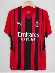 Newest 2021/22 PUMA AC Milan FC Home Shirt Football Jersey for Adult