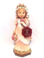 """VTG Anri Sarah Kay (To Love & Cherish) 6"""" LTD 858/4000 Carved Wood Figurine"""