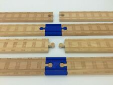 (2) Pack of Wood Track Adapters Thomas the Tank Engine Brio IKEA Wooden Railroad
