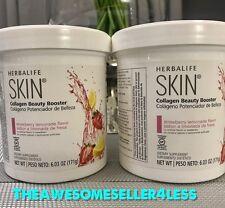 NEW 2X  Herbalife Skin Collagen Beauty Booster Strawberry lemonade 6.03Oz