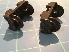 RARE! Lego Train Wheel RC Holder With Pin Slots & Black Wheels -Disney Train NEW