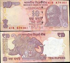 INDIA 10 RUPEES 2013 P 102 NEW SYMBOL UNC
