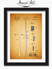HOWARD HILL  Archery, TRADITIONAL Patent prints, Bow STAVE Design 1939