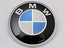 BMW 1 3 5 7 Z3 Z4 X3 X5 serie Bonnet insignia emblema de logotipo frontal de fibra de carbono 82mm
