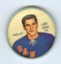 LARRY CAHAN 1961-62 Salada / Shirriff Coin #95 Hockey EXMT 61 New York Rangers a