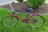 "1970's Schwinn Suburban Womens 10 Speed Bicycle 27"""