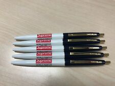 LOT OF 5 SUPREME WORLD FAMOUS BIC PENS - VERY RARE - HARD TO FIND! SOLD OUT