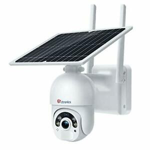 Ctronics Pan Tilt Solar Security Camera Outdoor Wireless with 14400mAh
