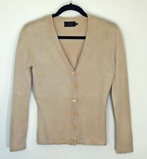 PURE Collection 100% cashmere beige cardigan sweater size M