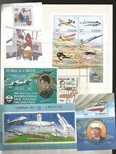 francobolli tematica aerei aviazione aeronautica foglietti nuovi mondiali