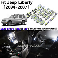 12x White LED Interior Lights Package Kit For 2004 2005 2006 2007 Jeep Liberty