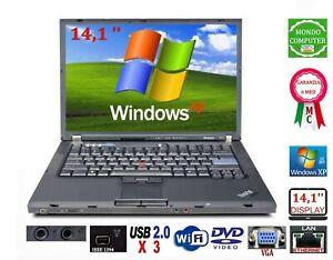 COMPUTER PORTATILE LENOVO T60  INTEL CORE 2 DUO  WIFI WINDOWS XP  PRO