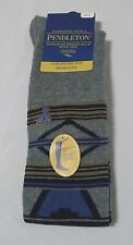 Pendleton Over The Knee Socks Ladies M Cotton Blend Classic Grey Design NWT