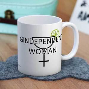 Gindependent Woman Fun Gin Drinker Novelty Ceramic Coffee Mug Gift