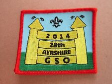 Ayrshire GSO 2014 Cloth Patch Badge Boy Scouts Scouting L5K E