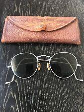 Antique Steampunk Round Sunglasses Eyeglasses w/ Case